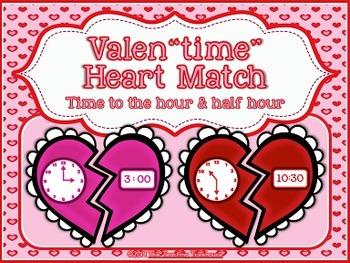 Telling Time ~ Valentine Activity
