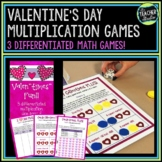 "Valen""times"" Math Games--Set of 3 Differentiated Multiplication Games"