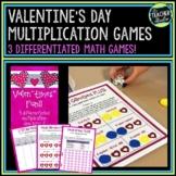 "Valen""times"" Math Games: 3 Differentiated Valentine Multiplication Games"