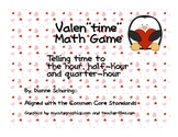 "Valen""times"" Time Matching Game: Telling Time"