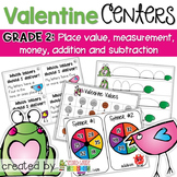 Valentine's Day Math Centers and Activities - Grade 2