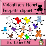 Valentin's Heart Puppets Clipart by The House Of Education