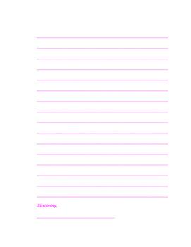 Valentine's Letter Task
