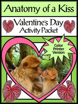 Valentine's Day Reading Activities: Anatomy of a Kiss Activity Packet