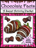 Valentine's Day ELA Activities & Easter ELA Activities: Chocolate Facts - Color