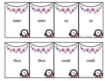 Valentine Primer Sight Words Go Fish