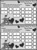Valentine's Day Game Activities: Valentine Hearts Valentine's Day Ten Frames
