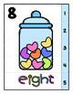 Valentine Counting Heart Candy 0 to 10 Number Strip Puzzles - Prek