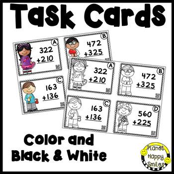 Valentine 3-Digit Addition Task Cards