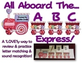 Valentine ABC Express!  Match Letters & Picture Cards on A Fun Valentine Train!