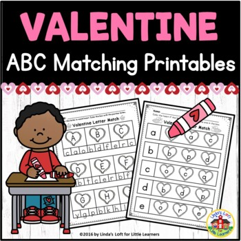 Valentine ABC Letter Matching Printables by Lindas Loft for
