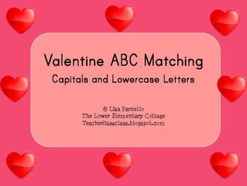 Valentine ABC Matching Freebie
