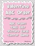 Valentine ABC Order Activities