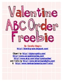 Valentine ABC Order FREEBIE