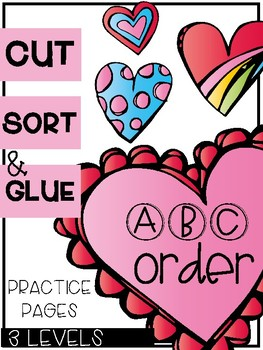 Valentine ABC Order Sorts (3 Levels)