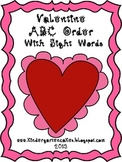 Valentine ABC Order with Sight Words