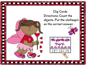 Valentine's Day Activities Counting Clip Cards