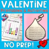 Valentine Activities & Printables {No PREP}