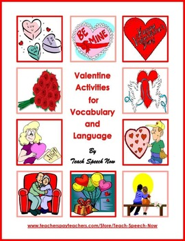 Valentine Activities  for Vocabulary and Language