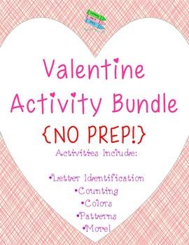 Valentine Activity Bundle ~ No Prep!