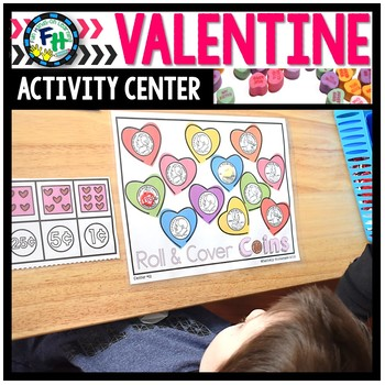 Valentine Activity Center {Roll & Cover Coins}