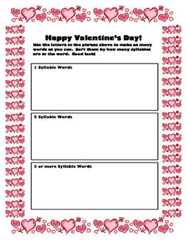 Valentine Activity Pack