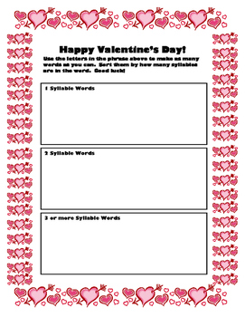 Valentine Activity Pack