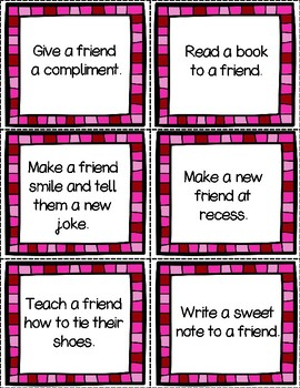 Valentine Acts of Kindness: Writing Sheets Included