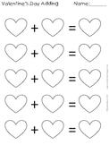 Valentine Adding Worksheet