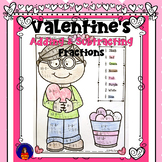 Valentine Adding and Subtracting Fractions Color by Number