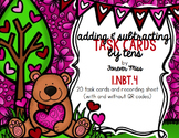 Valentine Adding and Subtracting by 10's Task Cards with/w