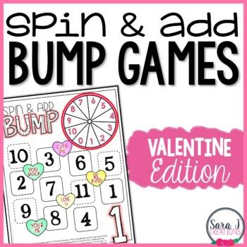 Addition Fact Fluency Games - Valentine's Day BUMP