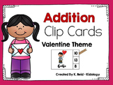 Valentine Addition Clip Cards