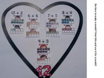 Valentine Addition Facts Craft
