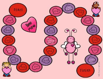 Valentine Addition Facts Game