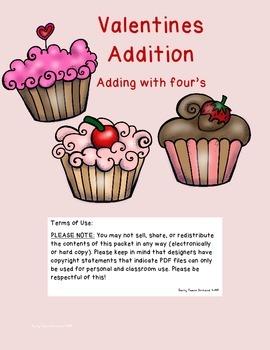 Valentine Addition Fours