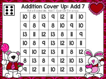 Valentine Addition Games Bump and Cover Up