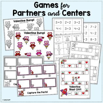 Valentine Math  Addition & Subtraction Games Within 12