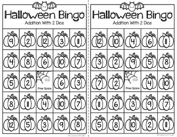 Halloween Addition Games - Adding Within 10 and 12