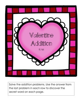 Valentine Addition K-1st