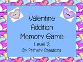 Valentine Addition Memory Level 2