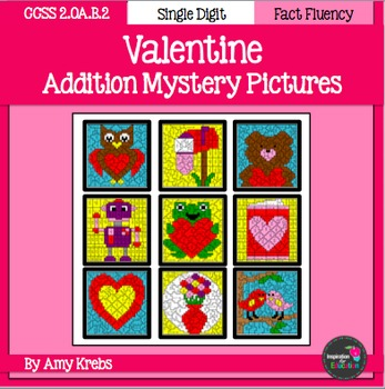 Valentine Addition Mystery Pictures