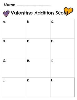 Valentine Addition Scoot