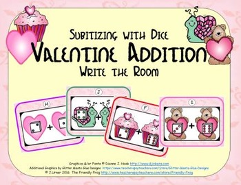 Valentine Addition {Subitizing with Dice}