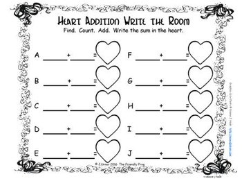 Valentine Addition {Subitizing with Tally Marks}
