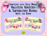 Valentine Addition & Subtraction Bundle {Subitizing with Tally Marks}