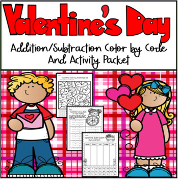 Valentine Addition/Subtraction Color by Code