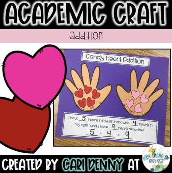 Valentine Addition & Subtraction Craft