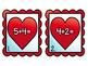 Valentine Addition & Subtraction Write the Room (BUNDLE)