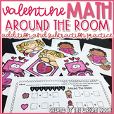 Valentine Math Addition and Counting EDITABLE